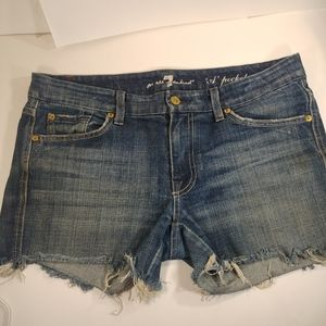 7 for all mankind 'A' pocket jean shorts 31 Waist